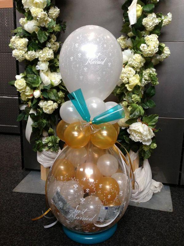 De Ballonnenkoning - cadeau ballon - just married - goud zilver