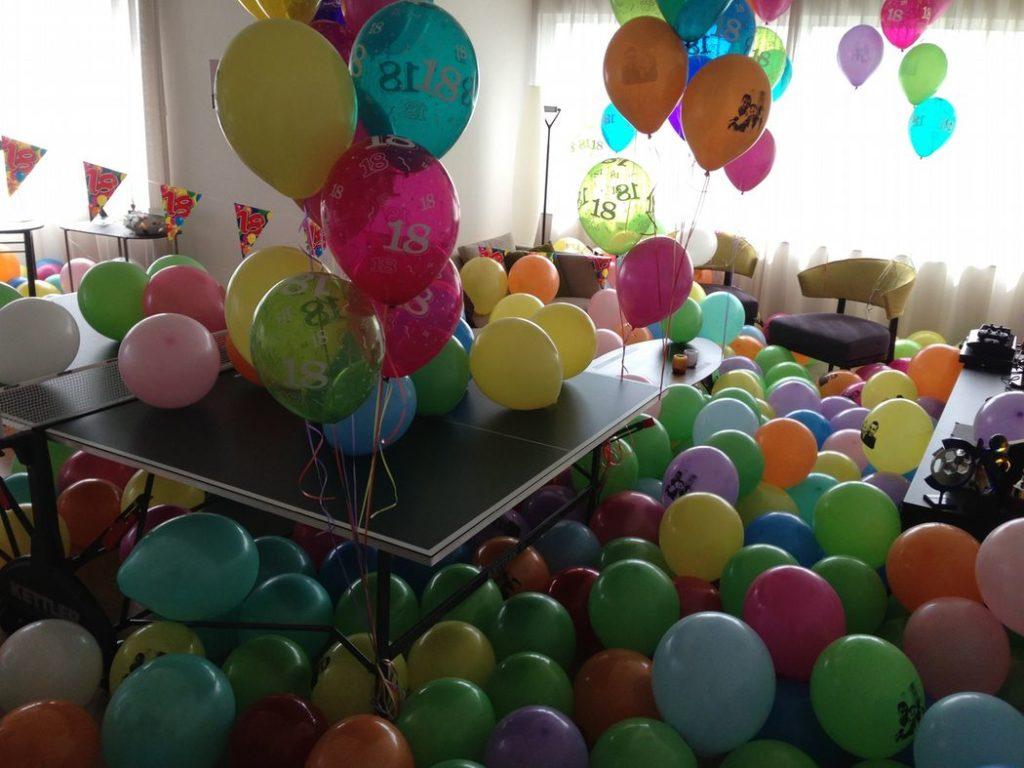 De Ballonnenkoning - ballon leeftijd 18 - bedrukte ballonnen diverse kleuren
