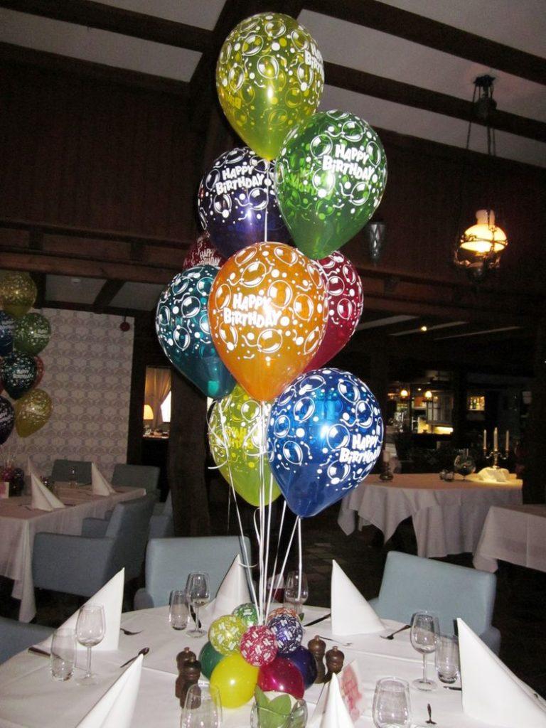 De Ballonnenkoning - happy birthday - bedrukte ballonnen diverse kleuren