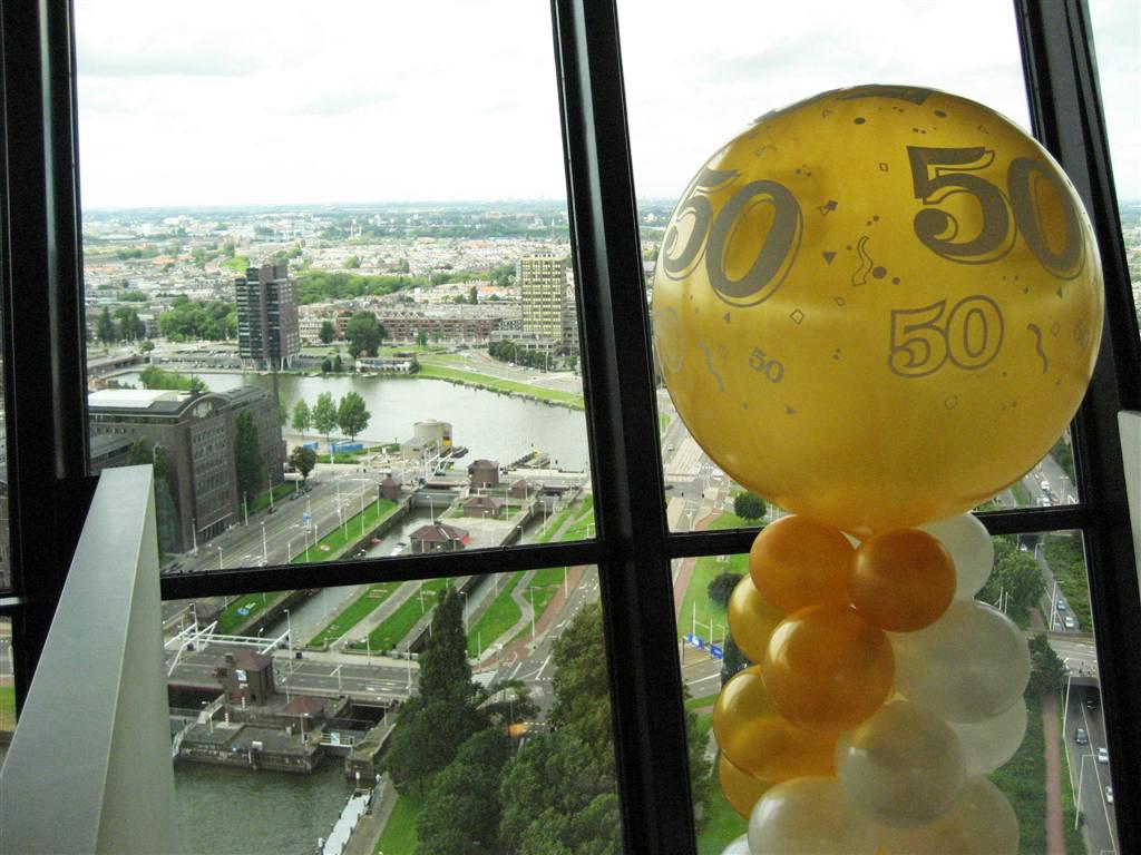 De Ballonnenkoning - ballon leeftijd 50 - zilver goud