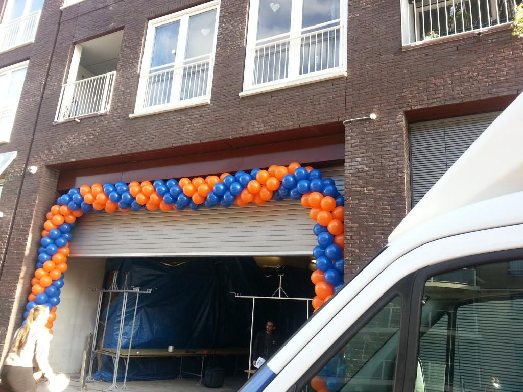De Ballonnenkoning - ballonslinger - blauw oranje