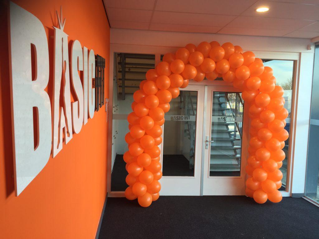 De Ballonnenkoning-ballonboog-oranje
