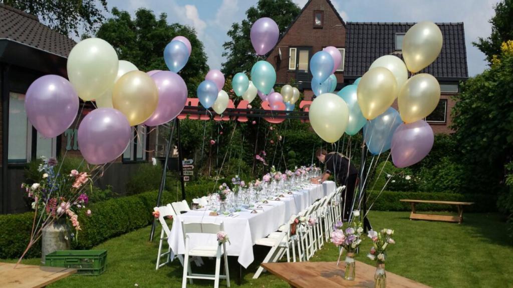De Ballonnenkoning - Pastel tinten heliumballonnen