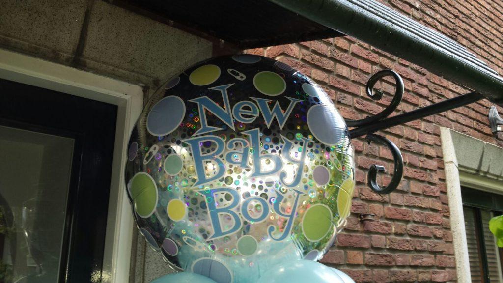 De Ballonnenkoning - new baby boy - topballon