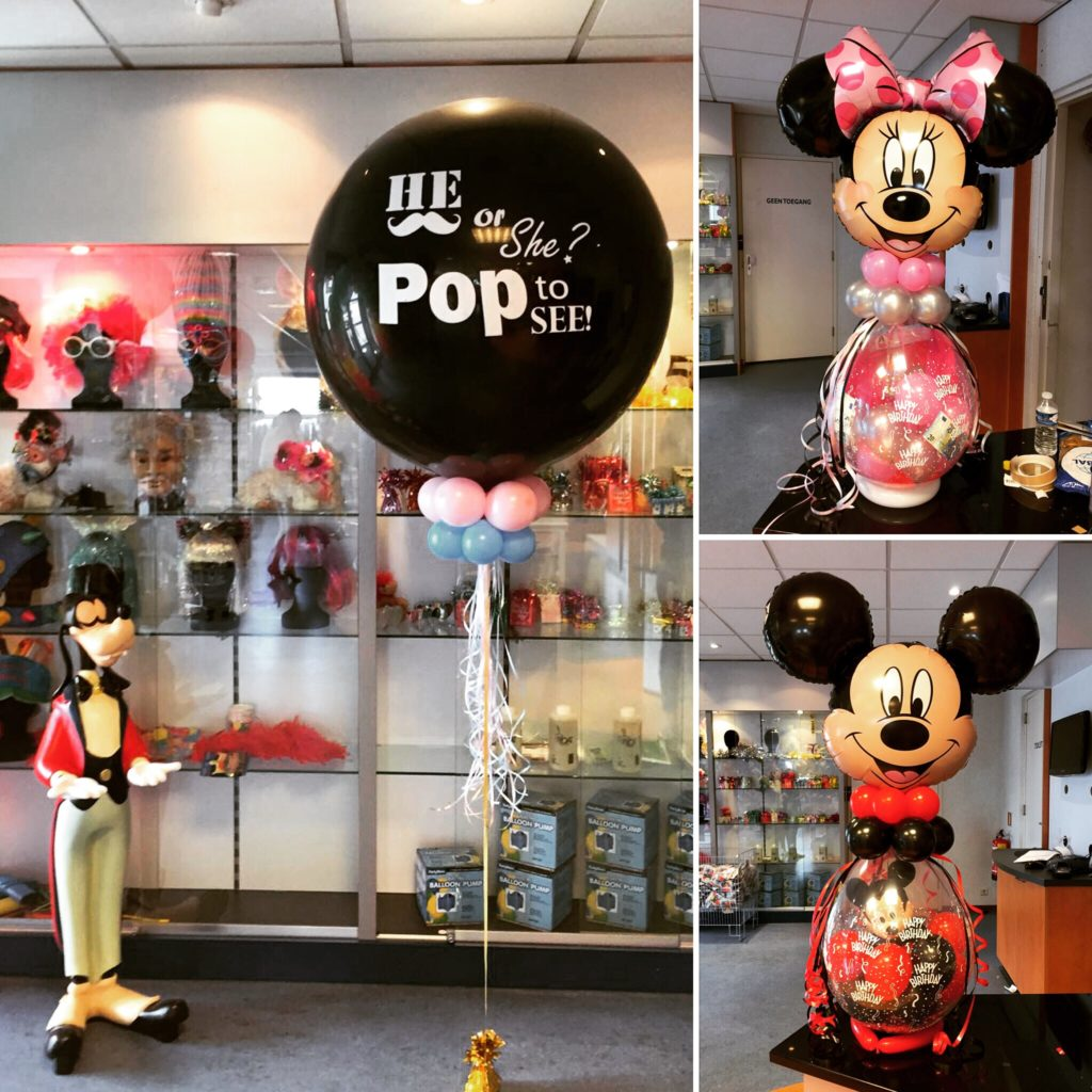 De Ballonnenkoning - Gender Reveal Balloon - he or she? - mickey or minnie