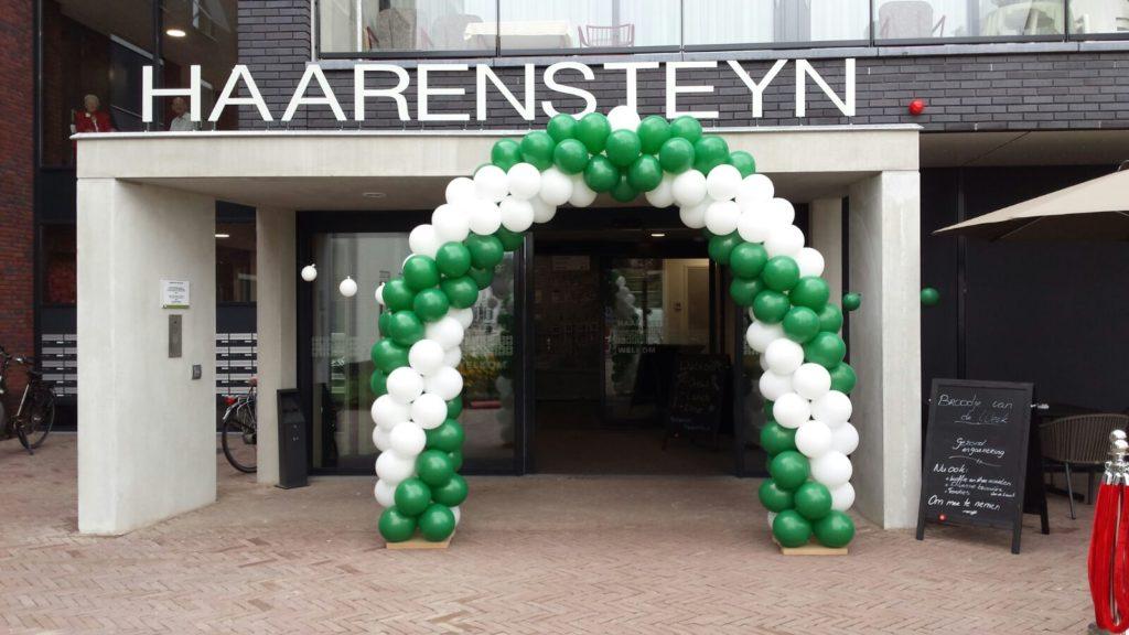 De Ballonnenkoning-ballonnenboog - groen wit