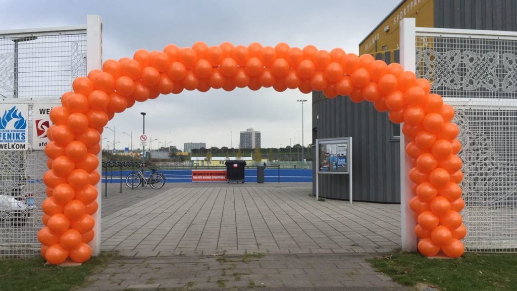 De Ballonnenkoning - ballonboog groot X large oranje