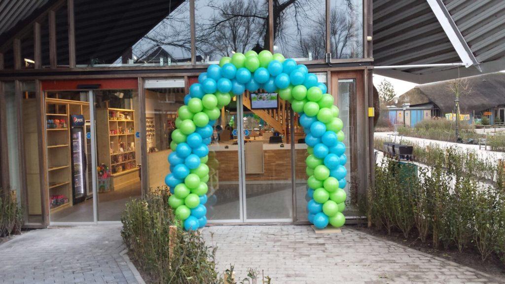 De Ballonnenkoning - ballonboog - groen blauw