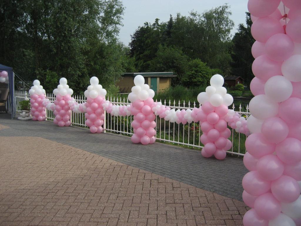 De Ballonnenkoning - ballonpilaartjes - roze wit