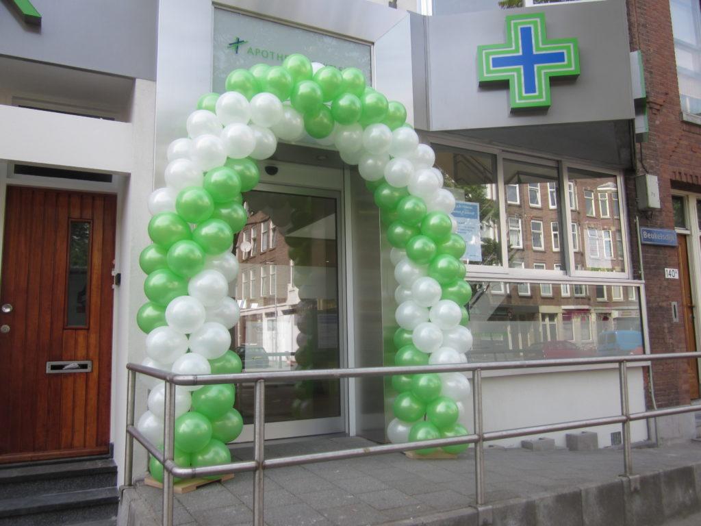 De Ballonnenkoning - ballonboog - wit groen