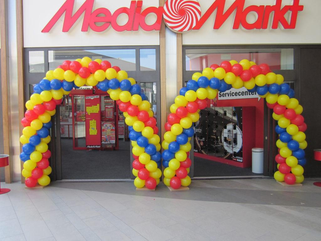 De Ballonnenkoning - ballonboog - rood geel blauw