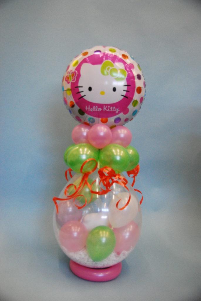 De Ballonnenkoning - cadeau ballon - verjaardag meisje - hello kitty - groen roze