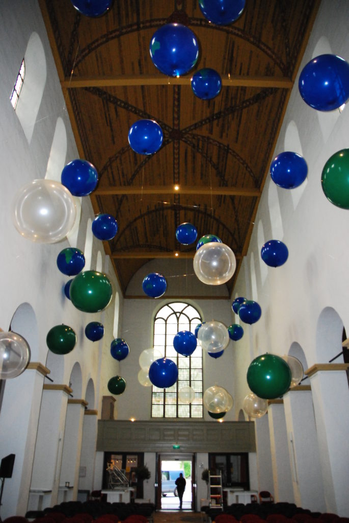 De ballonnenkoning - evenement decoratie - top ballonnen - groen blauw doorzichtig