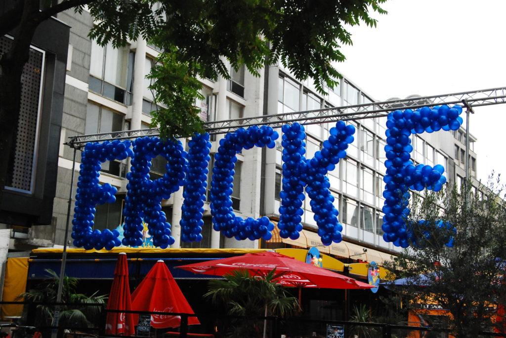 De ballonnenkoning - ballon letters - blauw