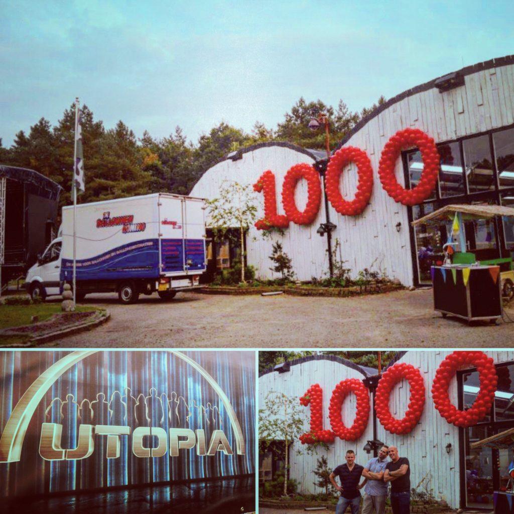 De ballonnenkoning - evenement decoratie - Utopia - ballon cijfers - 1000 - rood