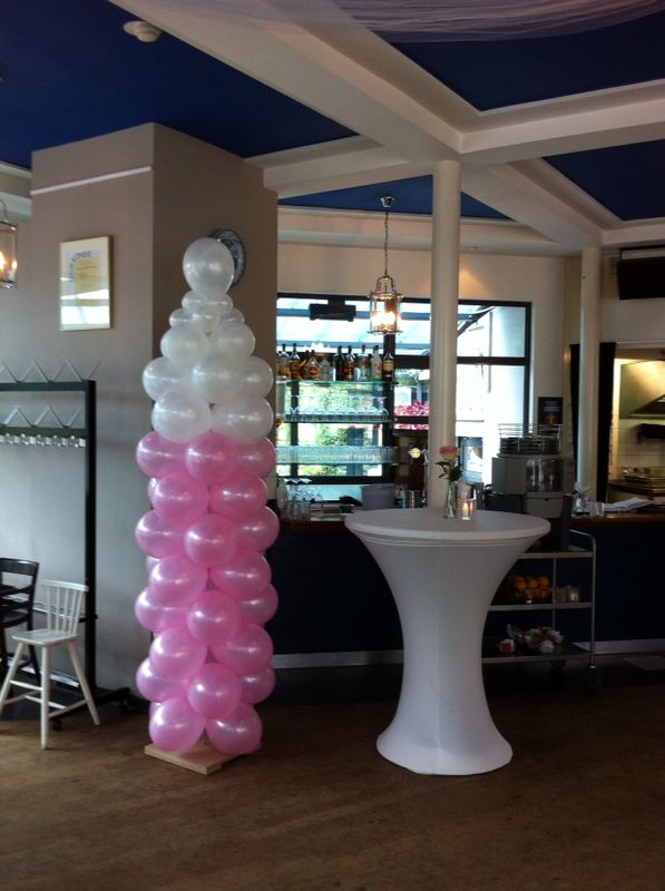 De Ballonnenkoning - ballonfles - roze wit