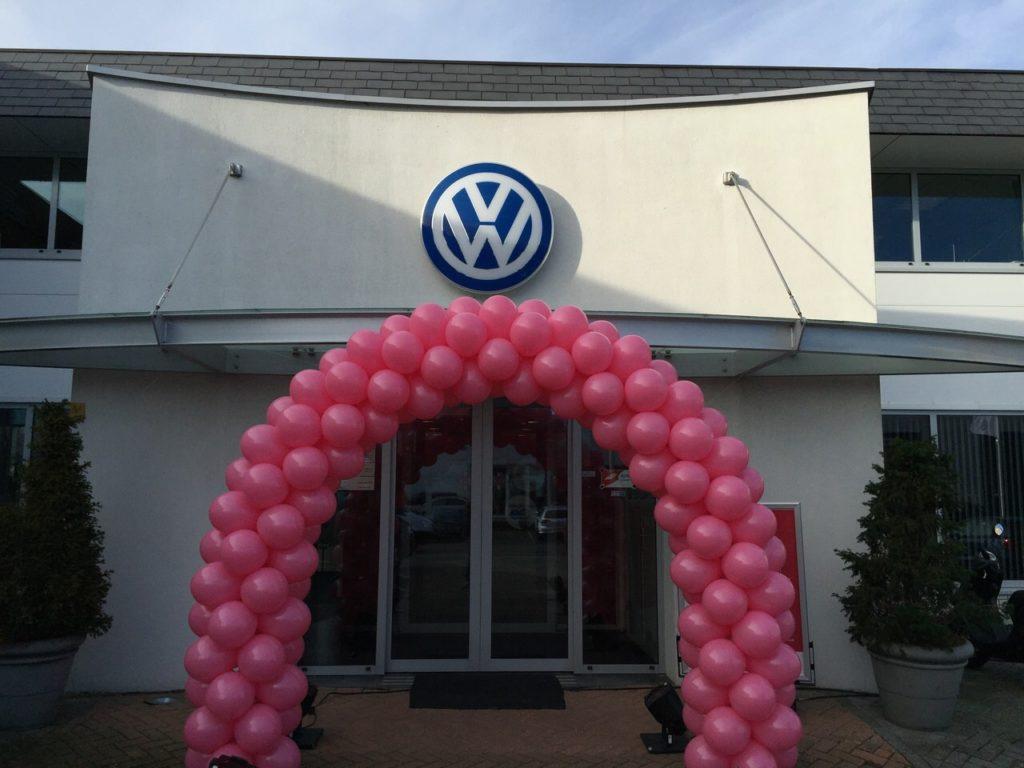 De Ballonnenkoning - ballonboog - roze