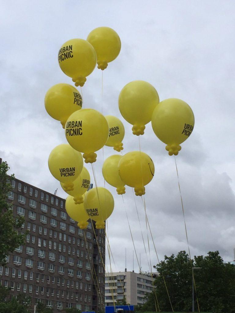 De ballonnenkoning - evenement decoratie - bedrukte topballonnen - geel