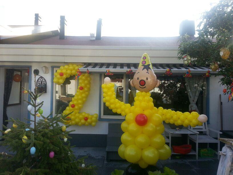 De Ballonnenkoning - ballon leeftijd 2 - geel rood