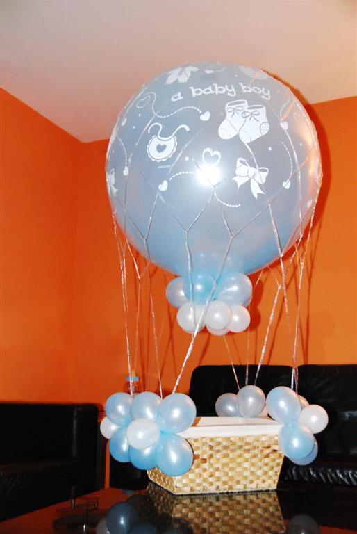De Ballonnenkoning - ballonmand jongen - blauw wit
