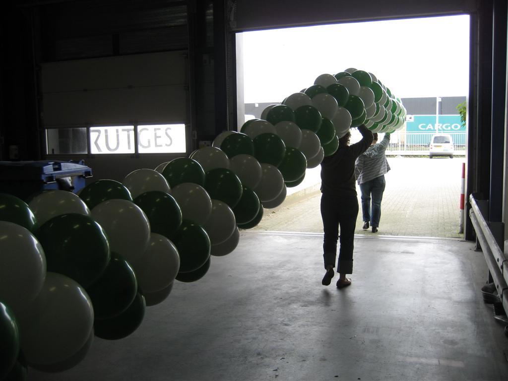 De Ballonnenkoning - ballonslinger - groen wit