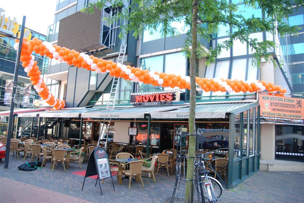 De Ballonnenkoning - ballonslinger - wit oranje