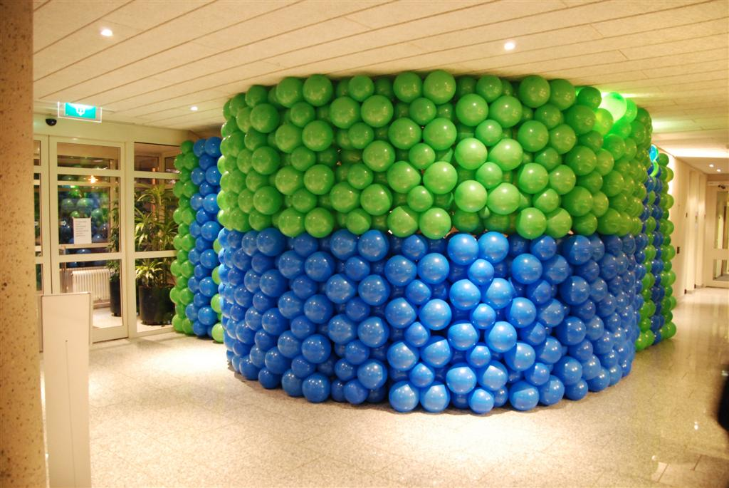 De Ballonnenkoning - ballonwand of ballonmuur - groen blauw
