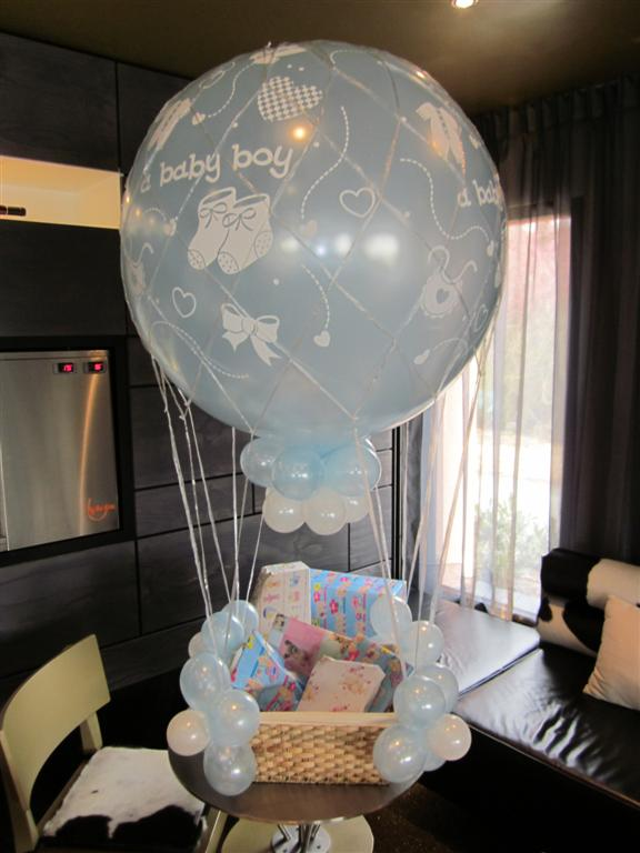 De Ballonnenkoning - ballonmand jongen - wit blauw bedrukt