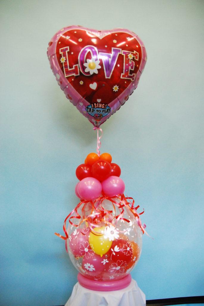 De Ballonnenkoning - cadeau ballon - love - rood roze oranje geel