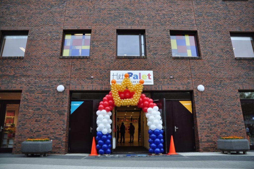 De Ballonnenkoning - ballonboog - koningsdag - rood wit blauw goud