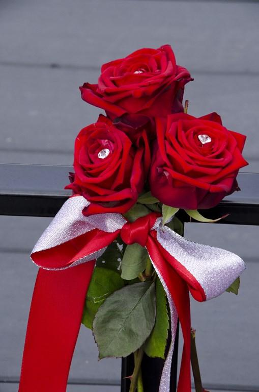 De Ballonnenkoning - bloem decoratie - rood zilver
