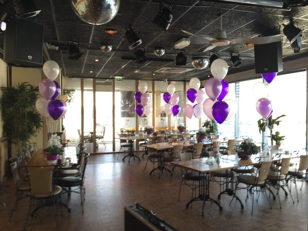De Ballonnenkoning-Theetuin-Ridderkerk-ballonnen-heliumballonnen op tafel