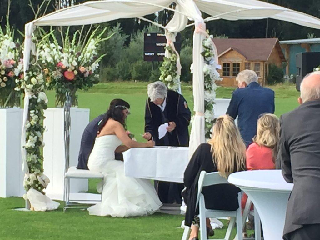 De Ballonnenkoning - ceremonie prieel bruidspaar