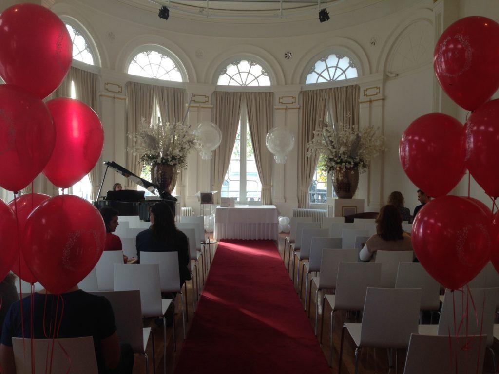 De Ballonnenkoning-Wereldmuseum-ballonnen in de trouwzaal