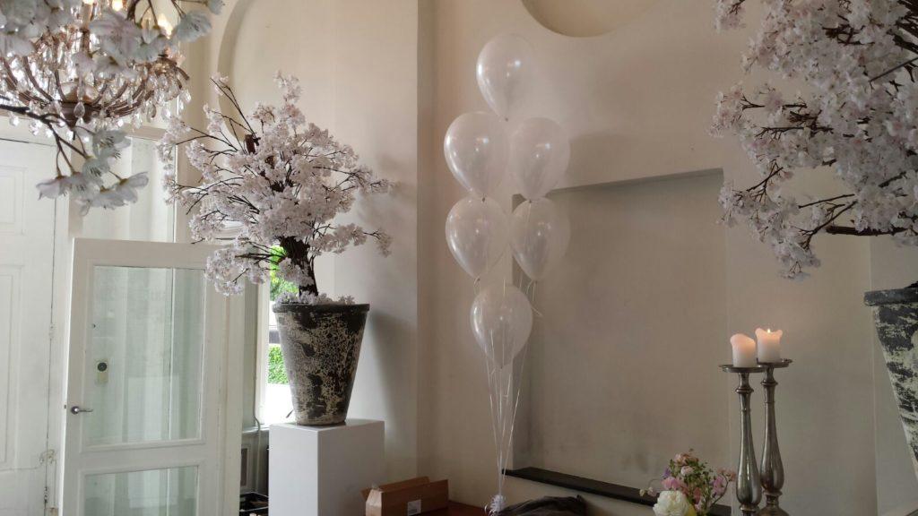 De Ballonnenkoning-Heerenhuys Rotterdam-tafeldecoratie wit