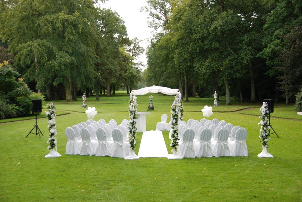 De Ballonnenkoning - Huis ten Donck - Prieel decoratie in de tuin