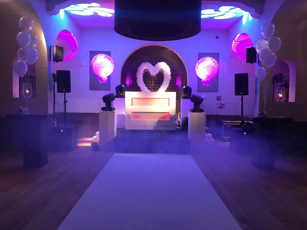 De Ballonnenkoning - Brasserie Kasteel Spangen - Feest verzorging muziek en licht DJ paars