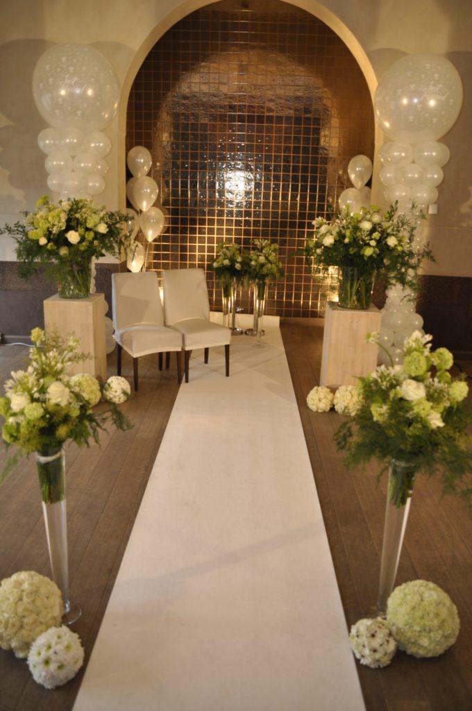 De Ballonnenkoning - Brasserie Kasteel Spangen - Trouwceremonie bloemen en ballonnen