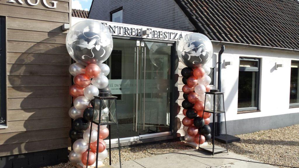 De Ballonnenkoning - Witte Brug - decoratie locatie ballonpilaren