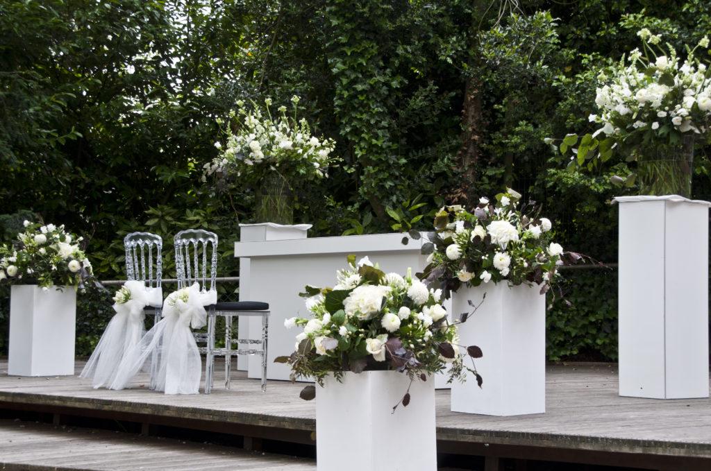 De Ballonnenkoning - Zweedse Kerk - trouwen opstelling trouwen bloemstukken 1