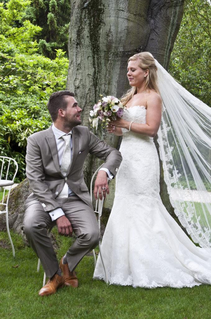 De Ballonnenkoning - Zweedse Kerk - trouwen bruidspaar - onze dank voor de foto